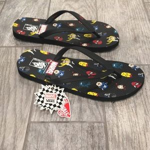 Vans marvel Heads Flip Flops Men's 12 new